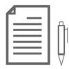 Vector outline icons of business and social online network